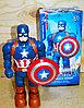 Немного помятая!!! 345-1A Робот Капитан Америка на батарейках  25*13