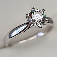Сертификат GIA 0,70Сt SI1/M Very Good-Cut Золотое 585 пр. кольцо с бриллиантом, фото 1