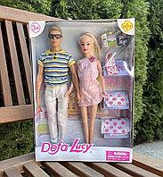 Семья Defa Lucy беременная Барби и Кен