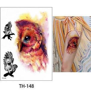 """Водостойкая временная тату-наклейка """"Хищные птицы"""""""