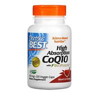 БАД коэнзим Q10 с высокой степенью всасывания, с BioPerine, 100 мг, 120 вегетарианских капсул