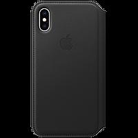 IPhone XS Leather Folio - Black, Model