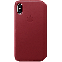 IPhone XS Leather Folio - (PRODUCT)RED, Model