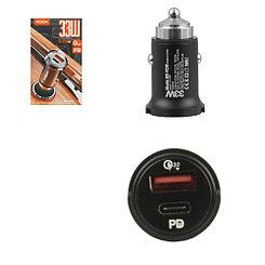 Автомобильное зарядное устройство Moxom MX-VC08, PD, QC, 33W, Black