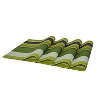 Комплект из 4-х сервировочных ковриков, цвет зеленый Ликвидация склада!