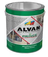 """Краска алкидная глянцевая ALVAN """"Prince"""" №121 желтая 3,5 л/"""
