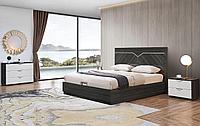 Кровать с подъемным механизмом Marcella, серый