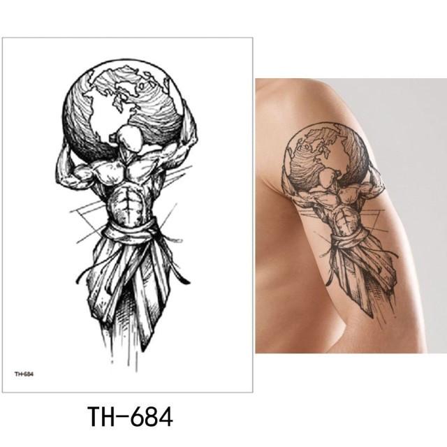 """Водостойкая временная тату-наклейка """"Супер Мен"""