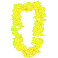 Гавайские бусы Леи из цветов зелено-желтых оттенков (диаметр по окружности 44-50 см)