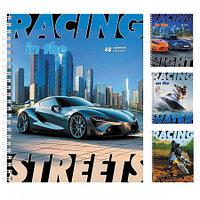 """Тетрадь """"Hatber Eco"""", 48л, А5, клетка, на гребне, серия """"Racing"""""""