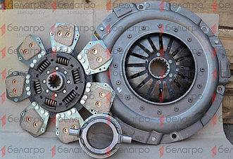 633308710 Комплект сцепления МТЗ лепестковая корзина + металлокерамический диск + отводка, LUK