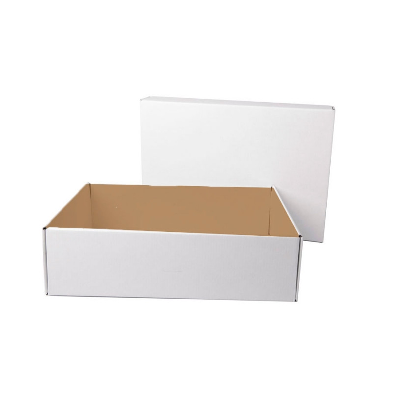 Коробка подарочная с лентой белой атласной, белый/бурый, Коричневый, -, 21009 13 - фото 1
