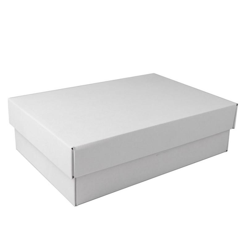 Коробка подарочная с лентой белой атласной, белый/бурый, Коричневый, -, 21009 13 - фото 2