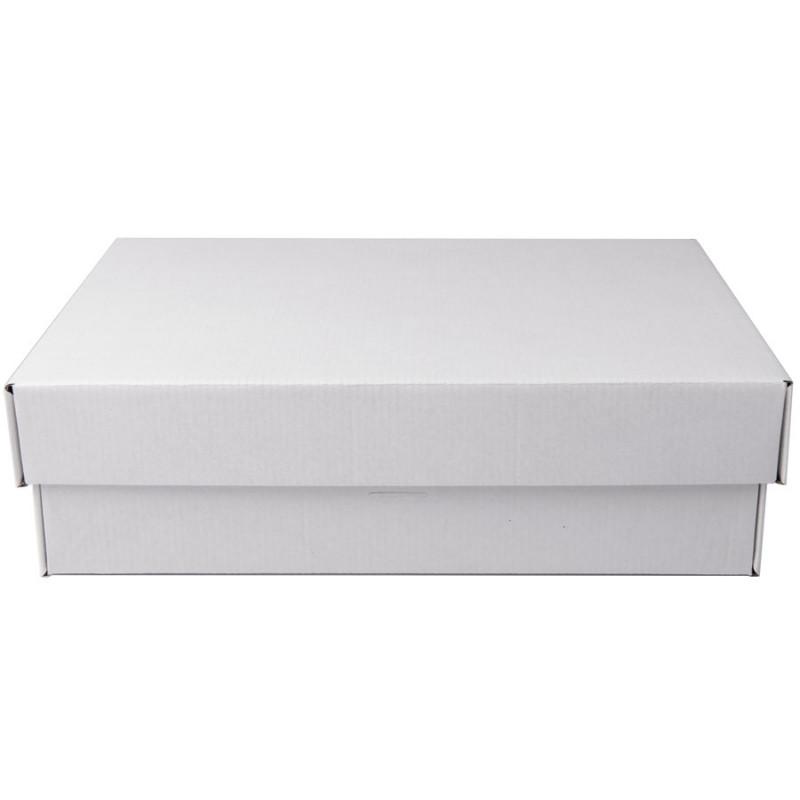 Коробка подарочная с лентой белой атласной, белый/бурый, Коричневый, -, 21009 13 - фото 3
