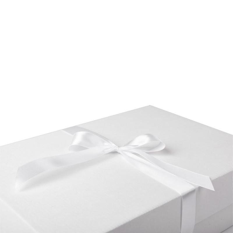 Коробка подарочная с лентой белой атласной, белый/бурый, Коричневый, -, 21009 13 - фото 5