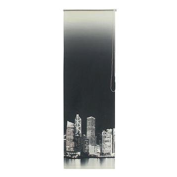 Штора рулонная 80 х175 см «Сити», цвет чёрно-белый