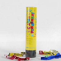 Хлопушка пружинная «С днём рождения», звёздочки, конфетти, фольга-серпантин, 20 см
