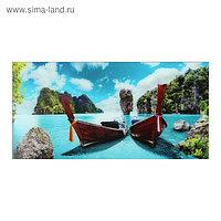 """Картина """"Тайландские лодки"""" 50*100 см"""