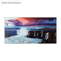 """Картина """"Красивый вид на водопад"""" 50*100 см"""