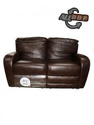 Двухместное кожаный диван-реклайнер Bruce