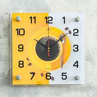 "Часы настенные, серия: Кухня ""Кружка кофе"", плавный ход, 25х25х4 см"