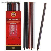 Набор стержней для рисования Koh-I-Noor 4869 (III) Gioconda, 5,6 мм, 6 штук, микс