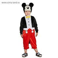 Карнавальный костюм «Микки Маус», комбинезон, шапка, р.26, рост 104 см