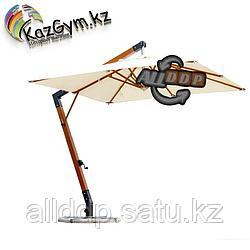 Зонт Wood Lux, 3х3м, квадратный, бежевый