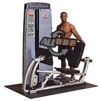 Двухпозиционный тренажер для жима ногами и тренировки икроножных мышц с весовым стеком 95 кг (DCLP-SF)