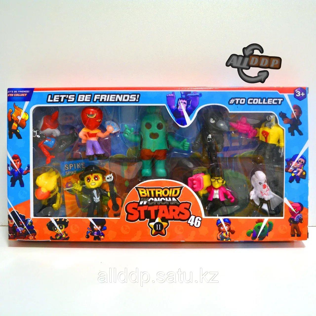 Игровой набор фигурки героев Brawl Stars 9 шт с игровыми картами H22 в ассортименте