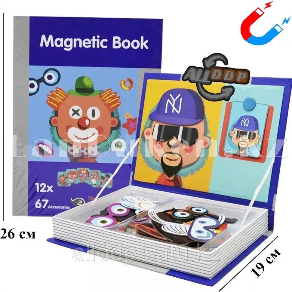 Развивающая игра Забавные лица Магнитная книга конструктор 79 вложений (6807-1) - фото 1