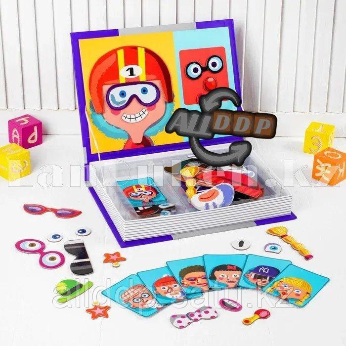 Развивающая игра Забавные лица Магнитная книга конструктор 79 вложений (6807-1) - фото 2