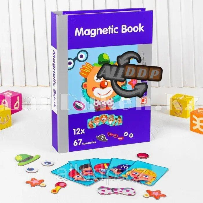 Развивающая игра Забавные лица Магнитная книга конструктор 79 вложений (6807-1) - фото 4