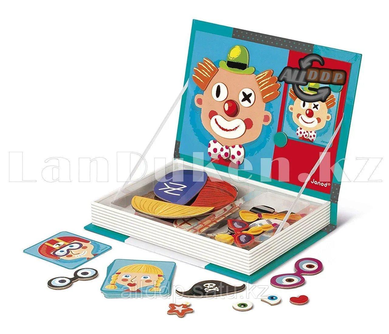 Развивающая игра Забавные лица Магнитная книга конструктор 79 вложений (6807-1) - фото 7