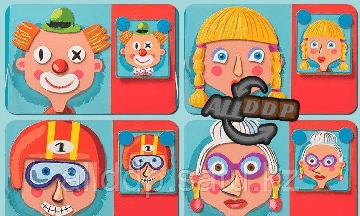 Развивающая игра Забавные лица Магнитная книга конструктор 79 вложений (6807-1) - фото 8