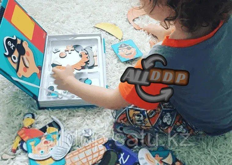 Развивающая игра Забавные лица Магнитная книга конструктор 79 вложений (6807-1) - фото 9