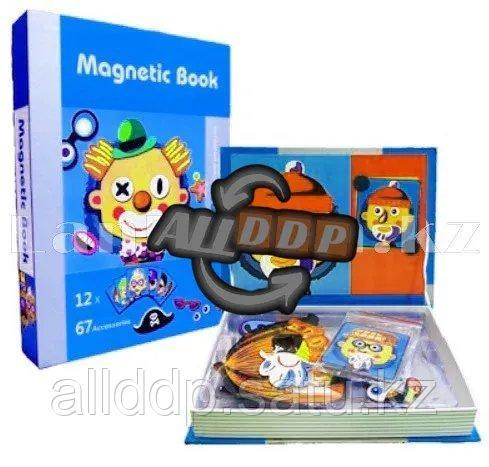 Развивающая игра Забавные лица Магнитная книга конструктор 79 вложений (6807-1) - фото 10