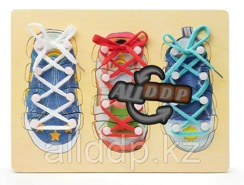 Развивающий набор для детей Завяжи Шнурки 3 в 1