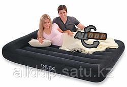 Надувной матрас двуспальный с подушкой Intex 152*203*23 см 66769