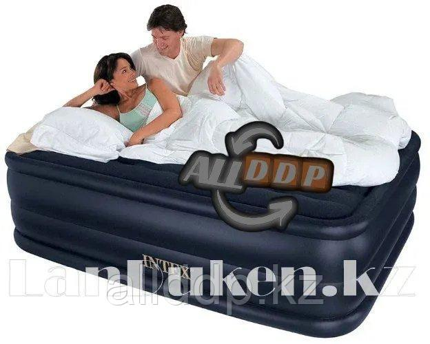 Надувная кровать со встроенным электрическим насосом 220 В 152* 203* 56 см Intex 66718