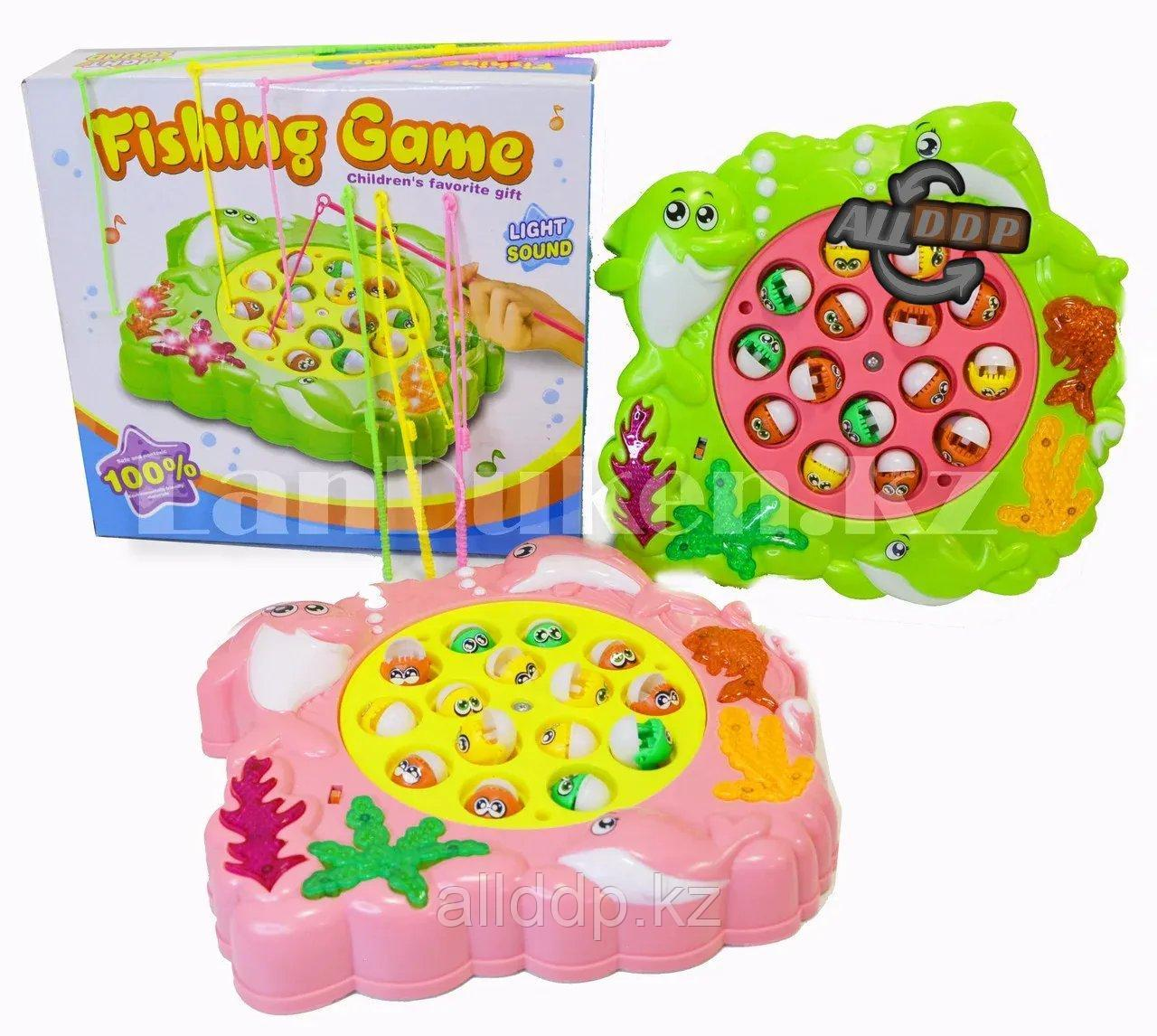 Музыкальный игровой набор Рыбалка с пираньями на механической платформе три удочки в ассортименте (233-8)