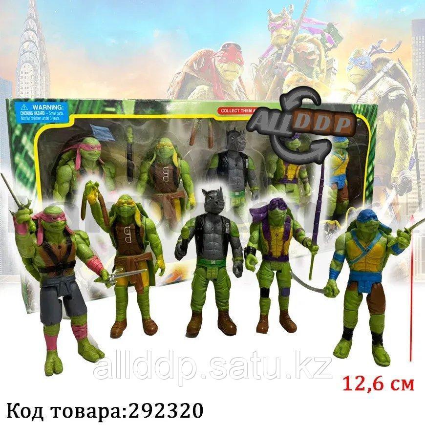 Игровой набор Черепашки ниндзя с боевыми оружиями 5 фигурок 12,6 см