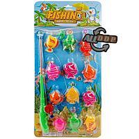 Детский игровой набор рыбалка 12 рыбок и удочка с крючком в ассортименте
