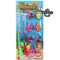 Детский игровой набор рыбалка 8 рыбок и 2 удочки на магните в ассортименте