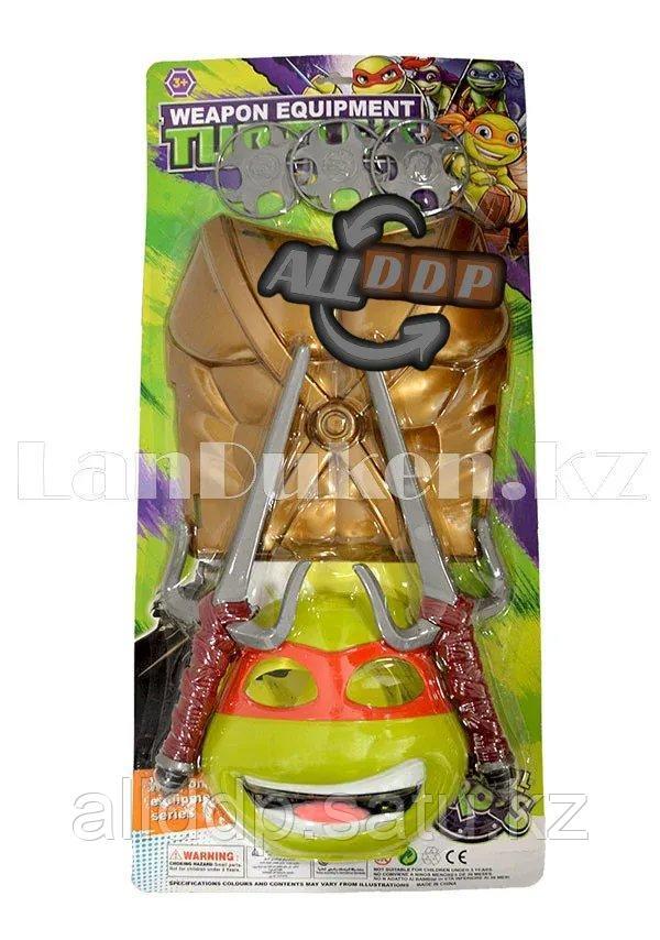 """Игровой набор защитный жилет, маска, кинжалы и три сюрикена """"Рафаэль"""" Черепашки-Ниндзя"""