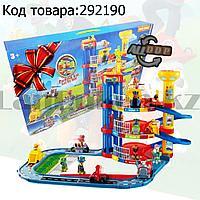 Набор игровой для детей из серии Щенячий патруль - Парковка 3-этажная с дорогой и лифтом 4 машинки в комплекте