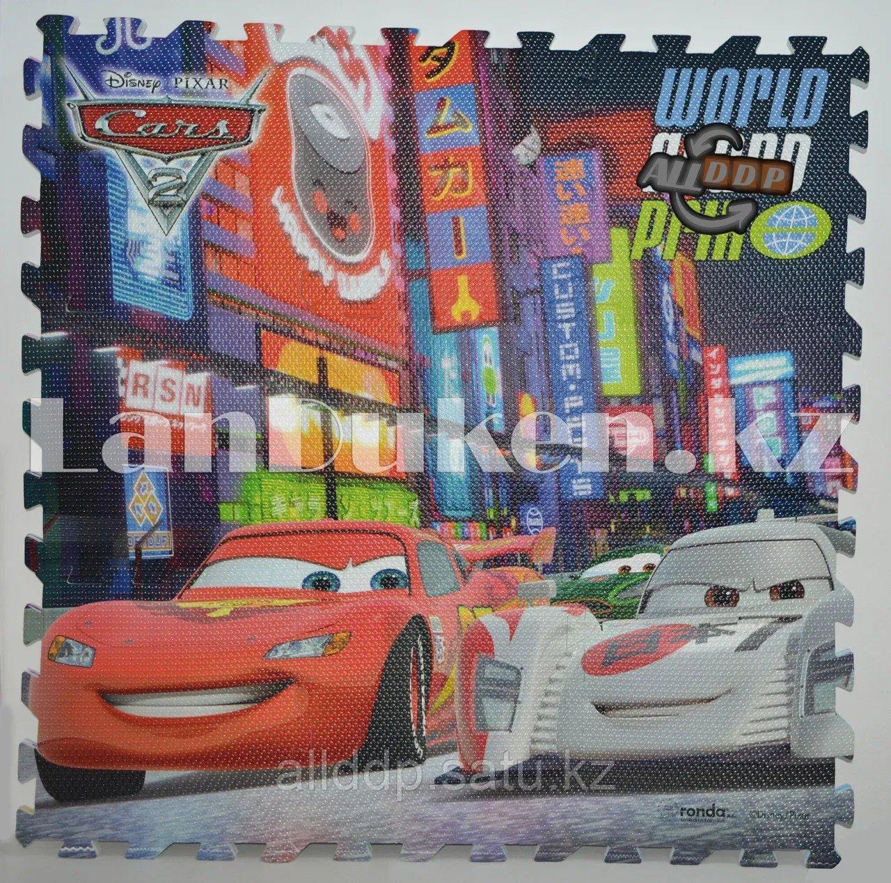 Детский коврик-пазл Cars 2 (Тачки) 9 элементов