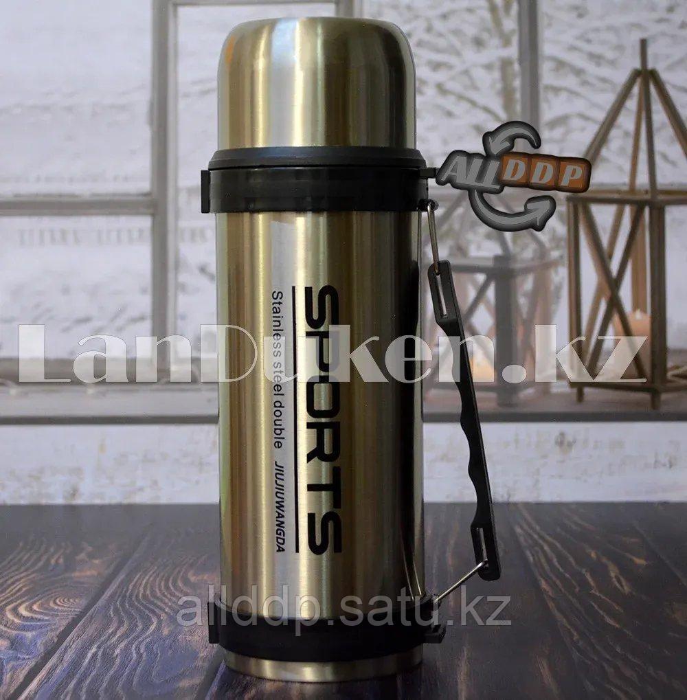 Термос вакуумный Travel Pot 1.6 л металлический с ручкой 1011