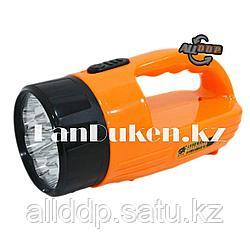 Ручной аккумуляторный фонарь светодиодный TX-316 12 LED 2 режима (оранжевый)