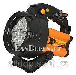 Ручной аккумуляторный фонарь прожектор светодиодный SD-152 19 LED 3 режима